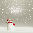 Vector Illustration of a Christmas Holiday Design with a Snowman
