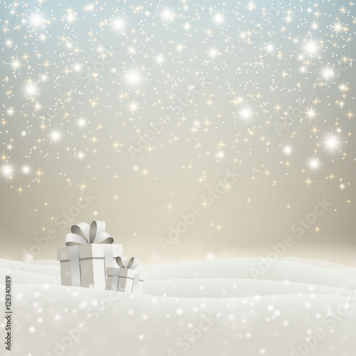 Poszter Vector Illustration of a Christmas Holiday Design with Gift Boxes