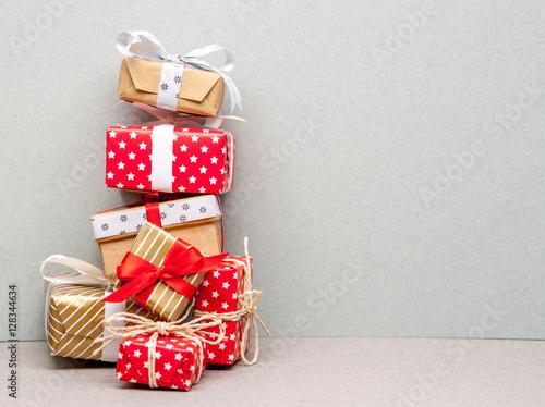 High Pile Of Christmas Gifts