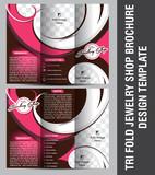 Tri Fold Jewelry Shop Brochure Template design