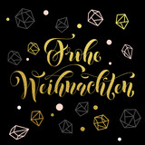 Christmas in Germany Frohe Weihnachten decorative vector greeting