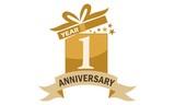 1 Years Gift Box Ribbon Anniversary