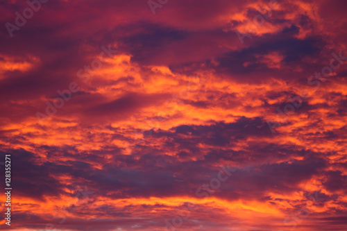 Foto op Canvas Baksteen Colorful sky at sunset