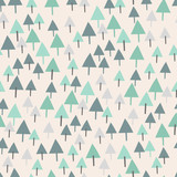 seamless christmas tree pattern - 128358449