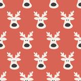 seamless reindeer pattern - 128358467