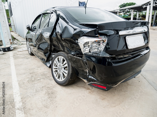 Car crash accident background Poster