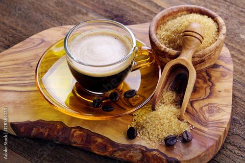 Poster Caffè espresso con zucchero di canna