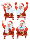 Collection of Christmas Santa Claus characters