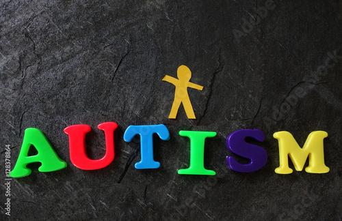 Poster Autistic child concept