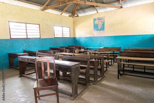 Foto op Plexiglas Zanzibar simple class room in village school in Zanzibar