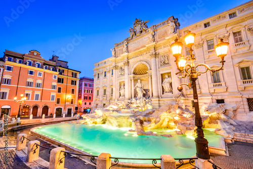 Rome, Italy - Fontana di Trevi, night image Poster