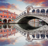 Fototapeta Venice - Rialto bridge and Grand Canal