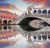 Wenecja - most Rialto i kanał Grande