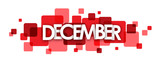 DECEMBER overlapping vector letters icon
