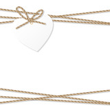 Background with rope bow and ribbons - 128456264