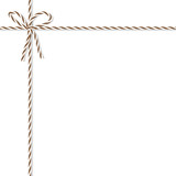 Background with bakers twine bow and ribbons - 128457439