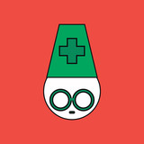 flat vector icon design collection silhouette ophthalmologist