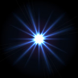 Vector blue shining star