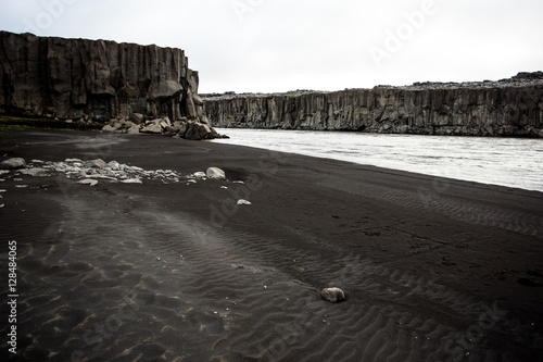 Poster Black sand beach, Iceland.