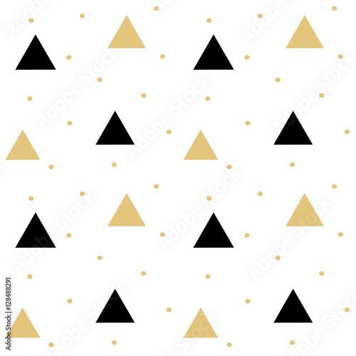 Tapeta gold black scandinavian seamless vector pattern background illustration with triangle