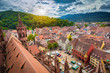 Leinwanddruck Bild - Historic town of Freiburg im Breisgau, Baden-Württemberg, Germany