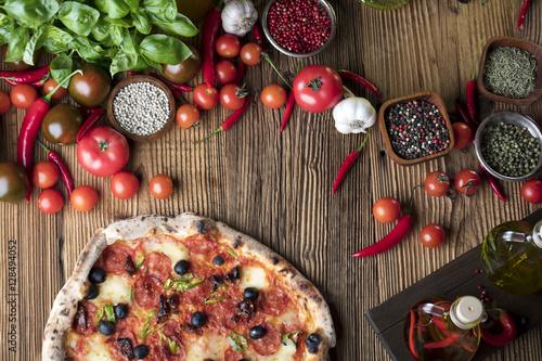 Fotobehang Pizzeria Italian food