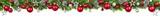Weihnachten Girlande, rot und silber geschmückt als Bordüre für oben, extra breit