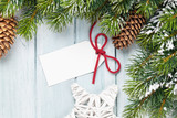 Christmas background with gift label