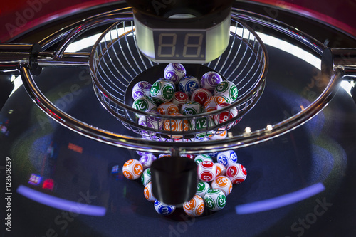 Foto op Aluminium Las Vegas Colourful lottery balls in a lotto machine