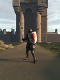 Medieval Knight Defending the Castle Gate - fantasy illustration