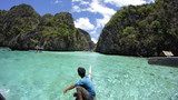 boat tour through limestone cliffs and crystal clear waters 2