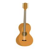 guitar acoustic instrument musical vector illustration design