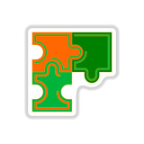 Vector illustration in paper sticker style Puzzles