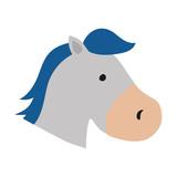 isolated horse cartoon icon vector illustration graphic design