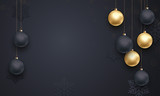 Luxury background golden decoration for Christmas, New Year