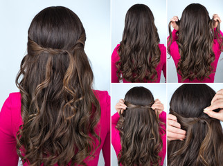 knotted hairstyle on curly hair tutorial