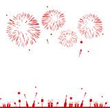Fototapety Silvester Feuerwerk