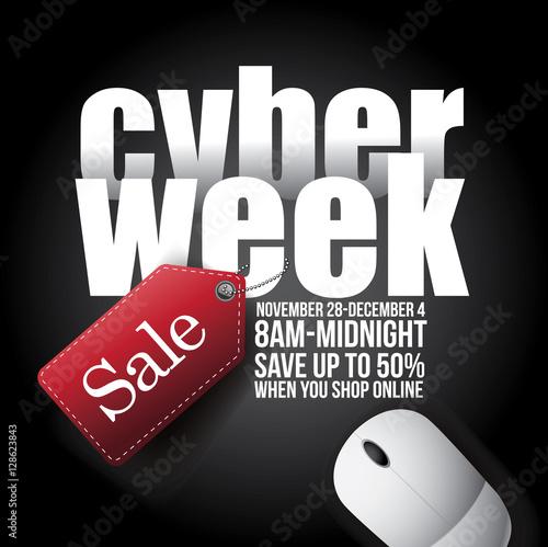 Cyber Week background design. EPS 10 vector illustration.