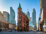 Gooderham or Flatiron Building in downtown Toronto - Toronto, Ontario, Canada - 128628026