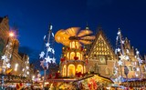 Christmas market in Old Town in Wroclaw, Poland - 128640415