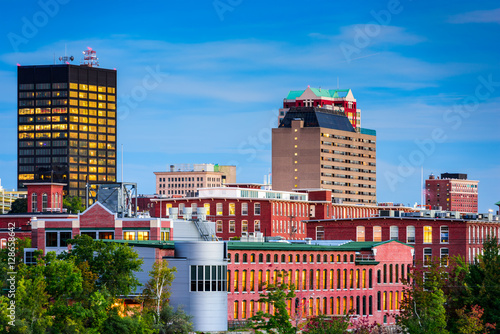 Poster Manchester, New Hampshire Skyline