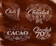 Chocolate labels collection brown