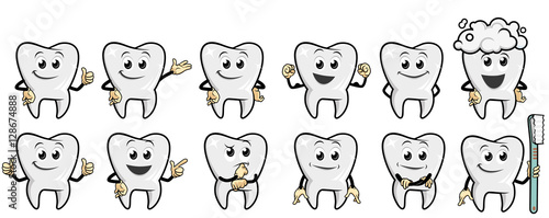 Funny Tooth Character