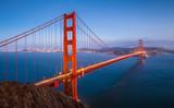 Golden Gate Bridge in twilight, San Francisco, California, USA - Fine Art prints