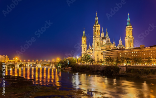 The Cathedral-Basilica of Nuestra Senora del Pilar in Zaragoza - Spain