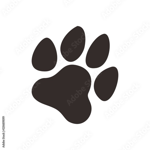 dog paw logo vector