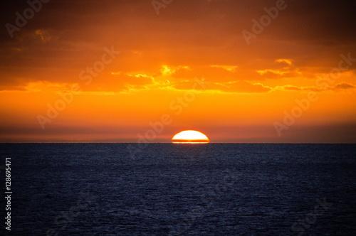 Dramatic Sunset @ Atlantic Ocean Poster