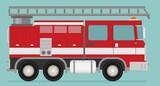 Fire truck rescue engine transportation. Firefighter emergency.