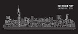 Cityscape Building Line art Vector Illustration design - Pretoria city