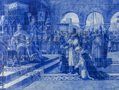 ceramiczny-azulejos-w-porto-dworcu-portugalia